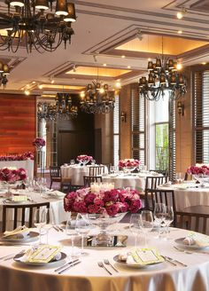 Oriental Hotel, Banquet, Table Settings, Wedding, Valentines Day Weddings, Table Top Decorations, Weddings, Place Settings, Marriage