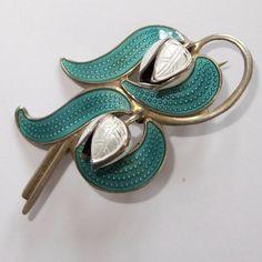 silver enamel in Vintage and Antique Jewellery Enamel Jewelry, Antique Jewelry, Silver Jewelry, Jewellery, Women's Brooches, Butterfly Wings, Silver Enamel, Flower Brooch, Norway