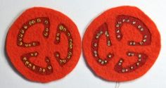 Free Felt Pattern - Tomato Slices