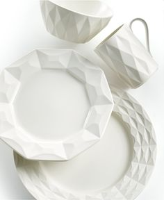 kate spade new york Dinnerware, Castle Peak Cream 4 Piece Place Setting - Casual Dinnerware - Dining & Entertaining - Macy's