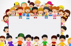 Happy Children's Day, Happy Kids, Art For Kids, Crafts For Kids, School Border, Blank Sign, Powerpoint Background Design, Kids Background, School Frame