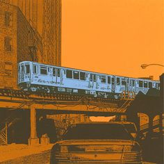 This is a fine art reproduction print made my original Blue line screen prints. This 5x5 print comes complete with conservation grade solid