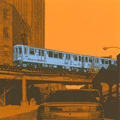 Blue+line+archival+print+with+8x8+mat+by+ariyamastudio+on+Etsy,+$22.00