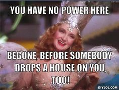 Wizard of Oz -Glinda - We should all use this statement on those people who are just mean. Badass Quotes, Funny Quotes, Life Quotes, Funny Memes, Hilarious, Mood Quotes, Witch Meme, Witch Quotes, Glenda The Good Witch