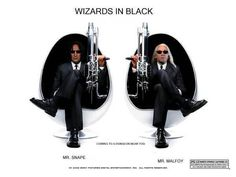 Men in Black? Professor Severus Snape and Lucius Malfoy from Harry Potter