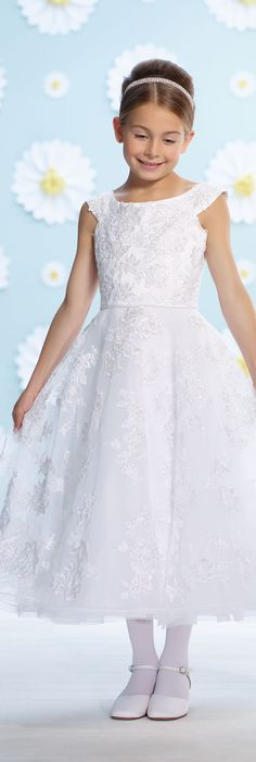 First Communion Dresses by Joan Calabrese - Spring 2016 -Style No. 116371 #firstcommuniondresses