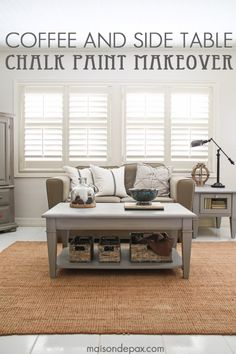 DIY Chalk Paint Furniture Ideas With Step By Step Tutorials - Chalk Painted Coffee and Side Table - How To Make Distressed Furniture for Creative Home Decor Projects on A Budget - Perfect for Vintage Kitchen, Dining Room, Bedroom, Bath http://diyjoy.com/chalk-paint-furniture-ideas