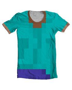 """Critique this t-shirt design: """"Minecraft Steve Shirt"""" - a WIP (work in progress)"""
