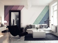 watercolour wall mural - Google-haku
