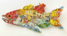 Peter Clark | Multi Coloured Smoked Fish