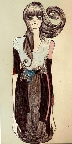 fashion illustration by Camila do Rosario
