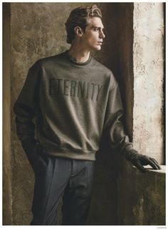 Jeremy Dufour Dons Calvin Klein Collection Fall 2014 Fashions for Loaded Magazine image Jeremy Dufour Loaded Calvin Klein Collection Mens Fall Winter 2014 002