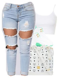 """""""Untitled #409"""" by uniquee-beauty ❤ liked on Polyvore featuring Topshop and MCM"""