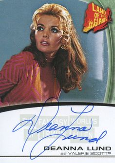 Card A9 from 'The fantasy worlds of Irwin Allen' set autographed by Deanna Lund