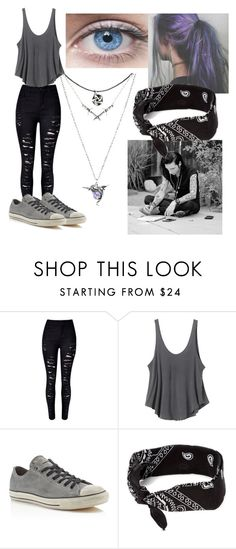"""""""the Prophets girlfriend"""" by reincarinatemotionlessveilbrides ❤ liked on Polyvore featuring RVCA, Converse and claire's"""