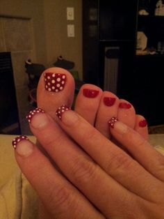 Nails and toes all set for Disney World!