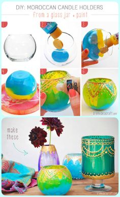 DIY: Moroccan Candle Holders! Super cute!