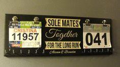 Sole Mates Bib Display, Running Bib Holder, Running Medal Holder, Racing Medal Holder, Bib Holder, Bib Hanger, Racing Bib Holder,