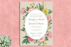 The most beautiful and unique wedding invitations, RSVP cards, and other wedding stationery available in Ireland, the UK and worldwide. Unique Wedding Invitations, Wedding Stationery, Printable Invitations, Printables, Pink Wedding Theme, Wedding Frames, Stationery Design, Pink Yellow, Script
