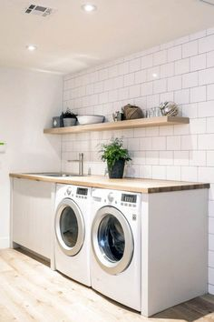 Suitable small l laundry room ideas only in indoneso design
