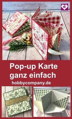 a very simple Aufstellkarte with great effect. Stampin Up, Diy And Crafts, Paper Crafts, Sympathy Cards, Scrapbook Cards, Paper Design, Pin Collection, Mini Albums, Christmas Cards