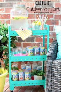 Sip, sip, hooray, summer is on it's way! It's time for outdoor entertaining, make a DIY Outdoor Bar Cart for all your summer parties.