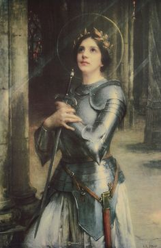 Joan of Arc Jeanne d'Arc By Charles-Amable Lenoir Joan of Arc or Jeanne d'Arc in french, was born in 1412 to Jacques d'Arc and Isabelle Romée, a peasant family, at Domrémy in north-east. Joan D Arc, Saint Joan Of Arc, St Joan, Nicolas Flamel, Jeanne D'arc, Catholic Saints, Patron Saints, Joan Of Arc Costume, Virgin Mary