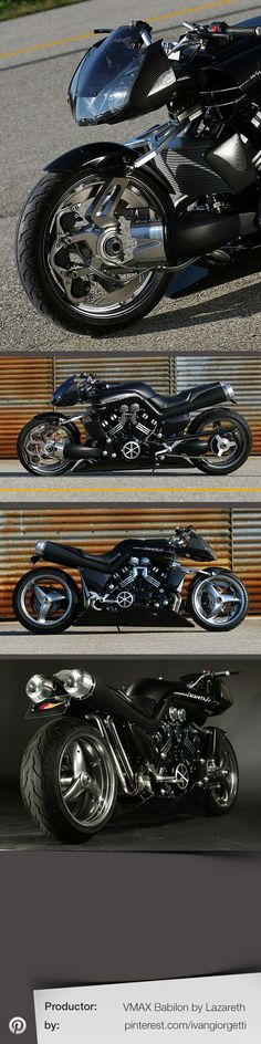 Vmax Babilon by Lazareth #custom motorcycle #moto #tuning