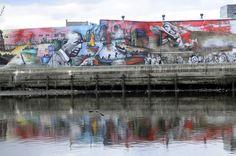 """"""" El regreso de Quinquela """" el mural mas grande de América Latina, del muralista urbano Alfredo Segatori , Barrio de Barracas , Ciudad de Buenos Aires. Foto: María Eugenia Cerutti"""
