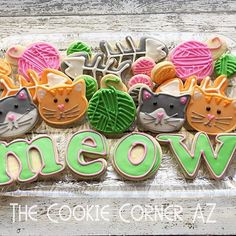 Meow. #catcookies. Inspired by @flourboxbakery #cats #catlover