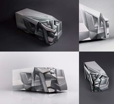 Dutch interior designer Tieme Rietveld and image makers Codex Inferno have collaborated on Perceptor, a handmade and hand-sprayed cabinet. It looks like a car that's been in a head-on collision… the surrealist graphics make it hard to decipher what's going on. And I like it.
