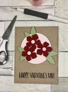 Valentine's Card using the Sizzix Garden Florals Thinlit die set www.sharon-curtis.com #sizzixlifestyle #sizzix #diecutting #valentine #simonsaysstamp #mymakingstory