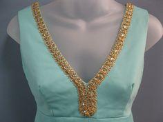 Vintage 1960's Turquoise Midi Long Dress Mad Men by TanteQVintage, $79.99