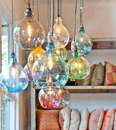 very chic bohemian bottle chandelier