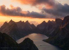 Sunset, Reinebringen - Lofoten islands, Norway by Beboy Photographies