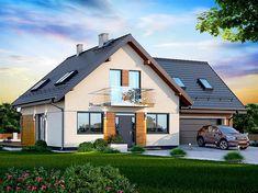 Projekt domu Galilea BIS 2M 134,15 m2 - koszt budowy - EXTRADOM Best Tiny House, Village Houses, Pool Houses, Modern House Design, Home Fashion, Future House, Planer, Bungalow, House Plans
