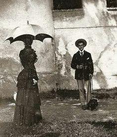 Elisabeth met haar Griekse voorlezer mr. Barker.