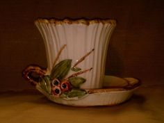 Vintage McCoy Pottery Leaves and Berries Planter-