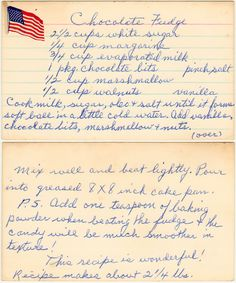Never Fail Chocolate Fudge Retro Recipes, Old Recipes, Vintage Recipes, Candy Recipes, Cookbook Recipes, Old Fashioned Fudge, Old Fashioned Recipes, Oh Fudge, Fudge Brownies