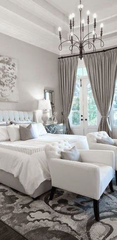 My Virtual House Ideas: Bedroom Idea - Grays And White
