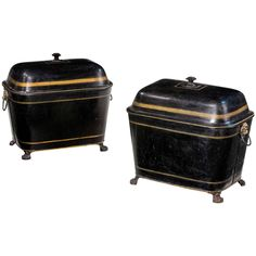 Pair of Early 19th Century Log Bins