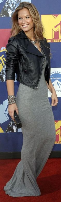 Most Wanted Maxi Dress - Charcoal Grey ~ Fall Outfit ~ 60 Great Fall - Winter Outfits On The Street - Style Estate -