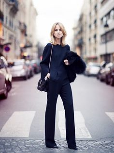 Love a tailored wide leg pant.