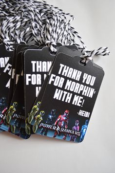 Power Rangers Goodie Bag Tags - It's Morphin' Time Gift Tags - Power Rangers Birthday Party by HeathersPartySpot on Etsy