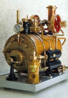 Dampfmaschine mit Dampfkessel Model Jet Engine, Miniature Steam Engine, Model Steam Trains, Boat Radio, Stirling Engine, Steam Boiler, Small Engine, Steam Locomotive, Radio Control