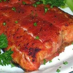 Bloody Mary Salmon recipe on http://danischellenberg.blogspot.com/