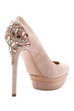 Brian Atwood Jeweled Pumps - LOVE these for brides !!
