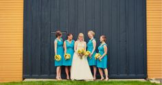 Loving the colors from this #outdoor farm wedding from a summer in Chicago!