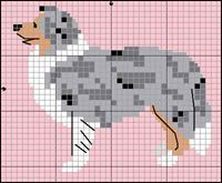 Collie/Sheltie blue merle knitting pattern