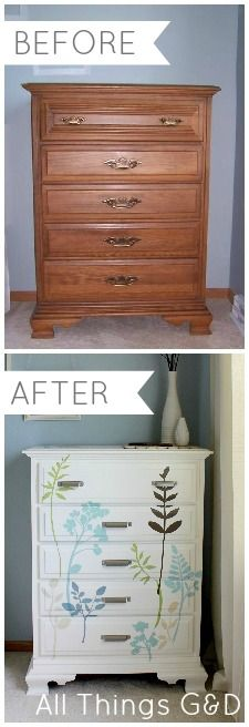 DIY Decal Dresser | www.allthingsgd.com